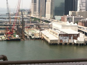 SSSeaport -new Pier17 pile driving adjacent to historic Tin & New Market sites
